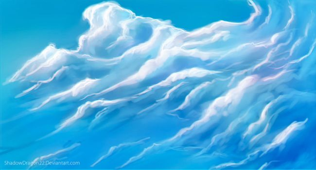 Clouds Practice Speedpaint by ShadowDragon22