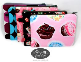 Fabric Zip Pouches 2012 by chat-noir
