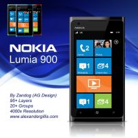 Nokia Lumia 900 .PSD by zandog
