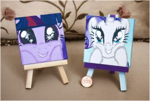 Paintings: Mlp fim Twilight Sparkle and Rarity by MilkyBoutique