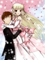 chobits wedding day by princessmoony