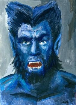Beast X-Men Sketch Card by Stungeon