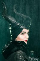 Once Upon A Dream:  Maleficent's horns by senorwong