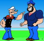Popeye and Bluto by TallToonist