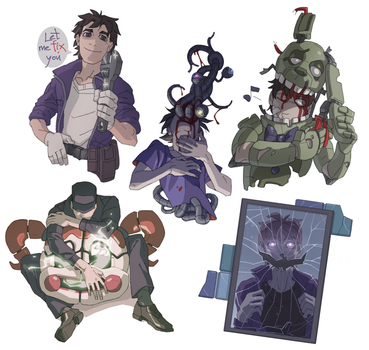 FNaF stickers by Asp666