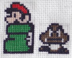 Kuribo's Shoe Mario and Goomba CS by RetroStitch