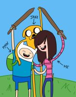 Finn and Jake and me by lindsayhinheinzen