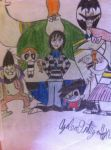 The Gangrene gang + Allie and Bella by InvaderAllieNinja