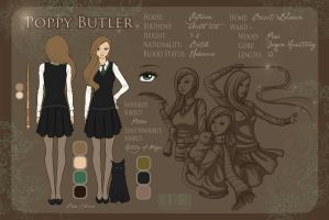 Character Sheet - Poppy Butler by LittleMissWiseass