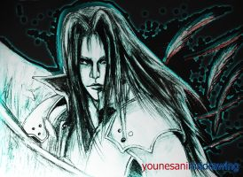 sephiroth -final fantasy by younesanimedrawing