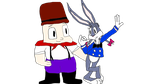 Elmer Fudd And Katie Bunny The Sailor by 10katieturner