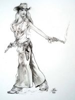 Cowgirl  Rawhide By DW Miller by ConceptsByMiller