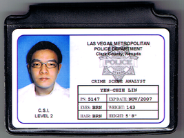 CSI replica ID card and holder by Pencilshade