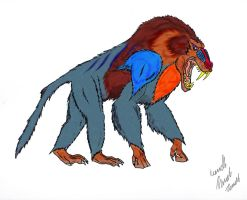 Giant Baboon by Dino-master