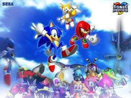 Sonic heroes wallpaper by kyo4455