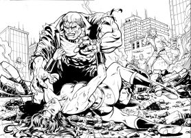 solomon grundy - wonder woman by ReneMicheletti