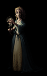 Lady with a candle by zapatones