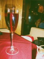 A glass of wine by Laura-in-china