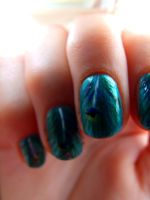 Peacock Feather Nails by barkingmadcaz