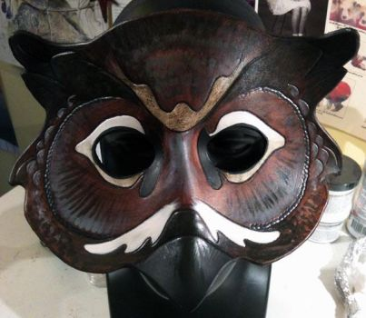 Great Horned Owl Mask by ursulav
