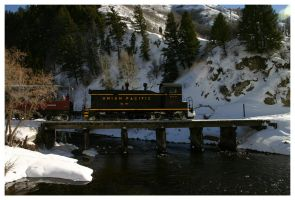 Train over Provo River by Toja7777777