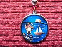 Greece necklace by metalmorphoses
