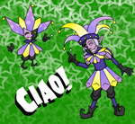 Dimentio and... Humentio? by fluffycatgirl