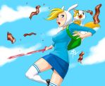Fionna and Cake - Bacon! by polarityplus