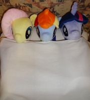 Dashie, Flutters and Twily 2 - Bedtime? by EgonDaLatz