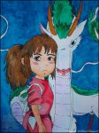 Spirited Away: Haku and Chihiro by BlackDragon07