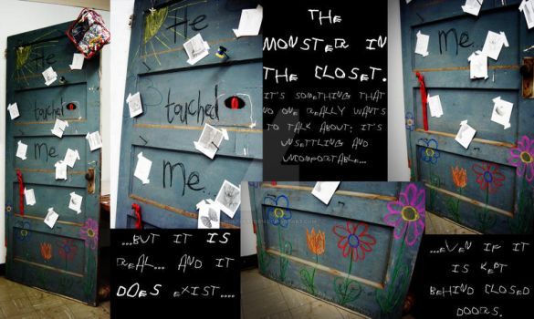 The Monster in the Closet- Collage. by wolfofstorm