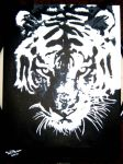 tiger stencil by rossiexd