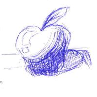 Apple Sketch by orcakat4