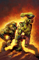 Hulk VS Abomination by Liam Sharp and Ryan Lord by RyanLord