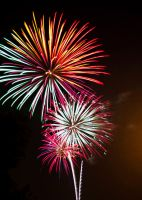 Large fireworks at night in Baltimore by Dom410