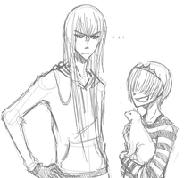KHR - Squalo and Bel Sketch by Rika-Wawa