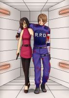 RE2: Ada Wong - Leon Kennedy by Aitia