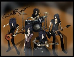 The Black Veil Brides by sinister-puppet