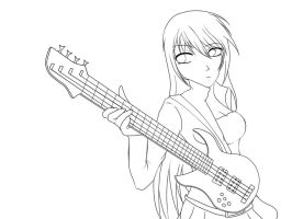 Bass: Line Art by themangacritic