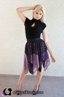 Purple Black Lace Faerie Skirt by DaisyViktoria