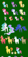 MLP simplified v2 (27 characters) by Vladar4