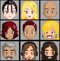 Artemis Fowl Faces by porpierita