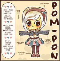 Pom-Pon Character Reference by Abblecrumble