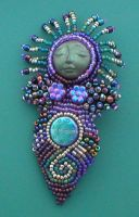 Festival Beaded Pin by jardan