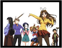 Love Hina Group Shot by Ao-Li