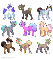 COLLABED PONY ADOPTS (1/9 OPEN) by sarehkee