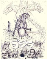 Gojira slash Godzilla by ArcherMonster