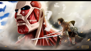 Shingeki No Kyojin - Facing the enemy by Kortrex