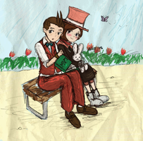 AA: Young Apollo and Trucy by SuperAiko