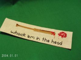 Zombie Killer Instructions Bookmark by agorby00